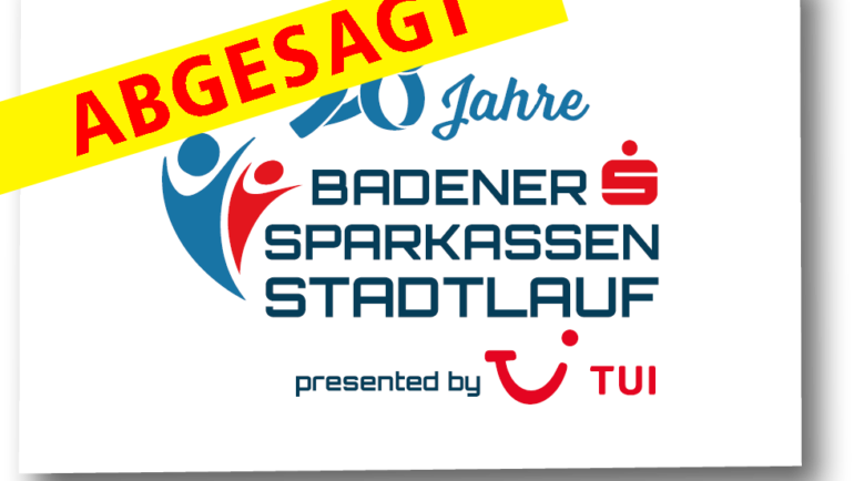 Badener Sparkassen Stadtlauf presented by TUI abgesagt!